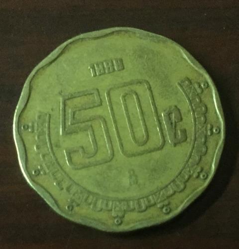 Imagen 1 de 4 de Moneda 50 Centavos Mexicanos Con Error De Acuñación