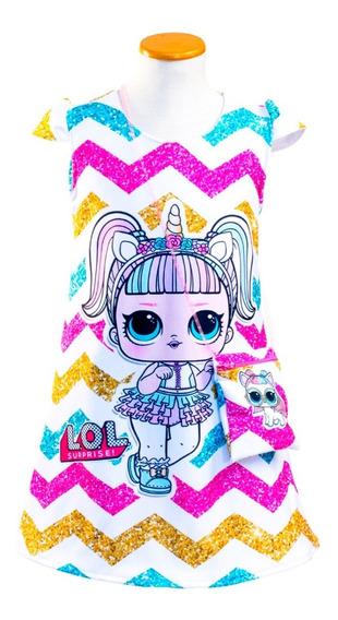Vestido Lol Surprise. Unicorn Con Carterita De Regalo