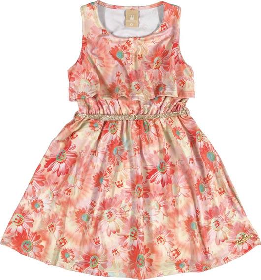 Vestido Infantil Coloritta Em Soneto Floral