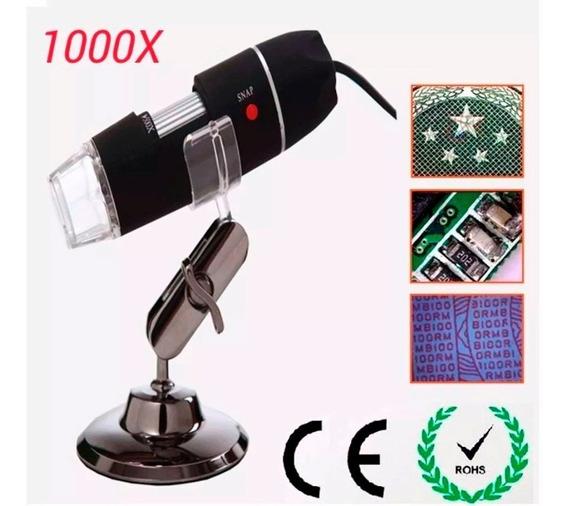 Microscópio Pro Digital Usb 1000x Hd Frete Gratis
