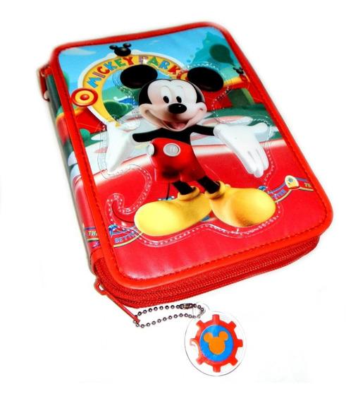 Cartuchera De Mickey Mouse 2 Pisos Cierre Canopla Original