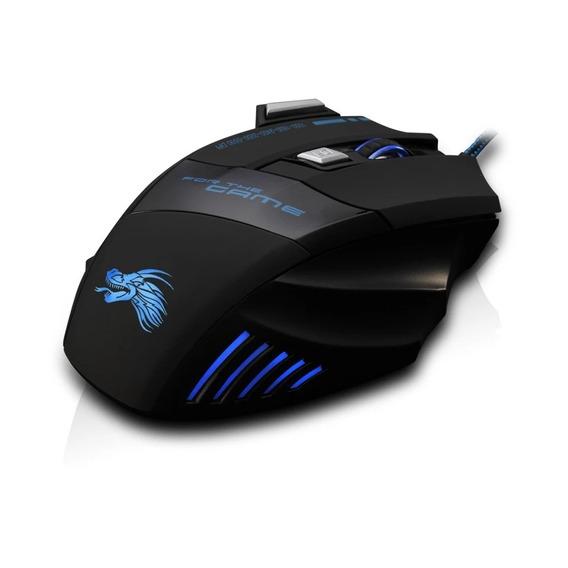 Mouse Gamer Óptico Com Fio 7 Botoes 5500 Dpi Led