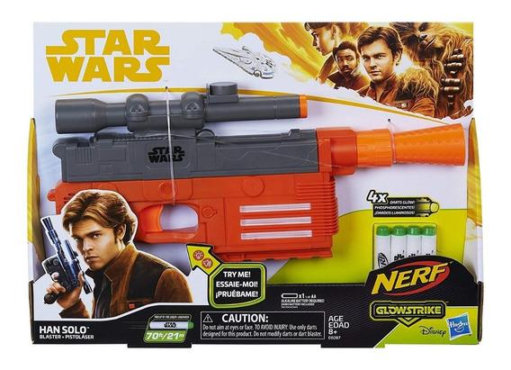 Pistolas Nerf Star Wars Han Solo Blaster Juguetes Original
