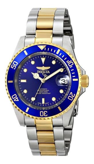 Reloj Invicta 8928ob Pro Diver Automatico Baño Oro 23k