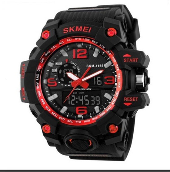 Relógio Skmei Militar 1155 Vermelho Wr 50m - Promoção