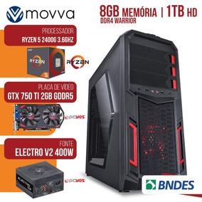 Pc Gamer Amd Ryzen 5 2400g 3.4ghz/8gb/hd 1tb/gtx750t 2gb/400