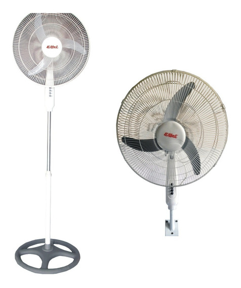 Ventilador Turbo 2 En 1 Eiffel 18`acero Pie-pared 90w Blt18