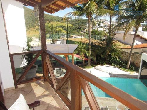 Casa Com Quadra De Tênis, 6 Dormitórios À Venda, 500 M² Por R$ 2.400.000 - Escarpas Do Lago - Capitólio/mg - Ca0369