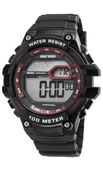 Relógio Mormaii Masculino Wave Digital Mo3480a/8r Vermelho