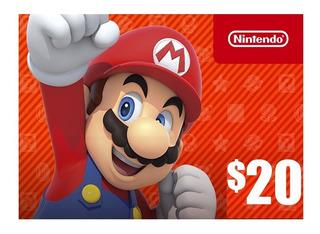 Tarjeta Nintendo Eshop 20 Dolares Digital - Chilesteam