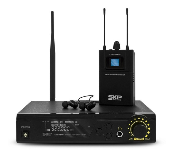 Fone Monitor Ponto Retorno Sem Fio Skpro Stage In Ear