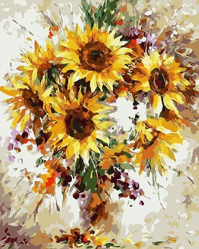 Imagen 1 de 6 de Juego De Pintura Al Oleo Rihe Diy. Pintar Por Numero. De 1