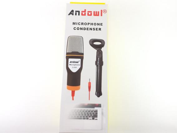 Microfone Condensador Gravação Q-888 + Tripe