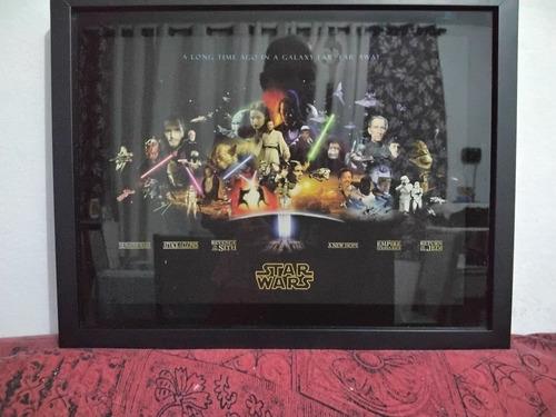 Imagem 1 de 1 de Quadro Star Wars 3d Resinado