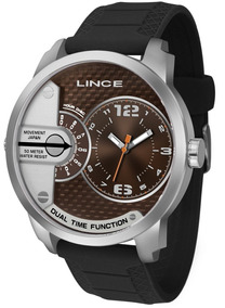 Relógio Masculino Preto/prata Lince Mrph049s M2px
