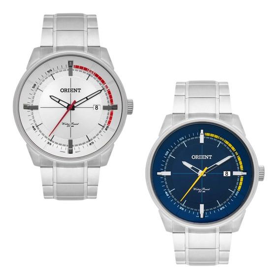 Kit Relógios Masculinos Orient Mbss1295 Azul E Branco Nf