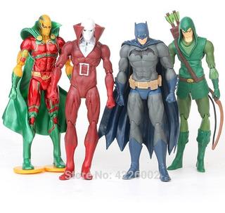 Set X4 Figuras Muñecos Dc Batman Arrow Flecha Verde Milagro