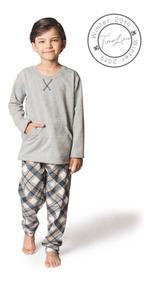 Pijama Infantil Menino Tamanhos 14 E 16 Moletinho