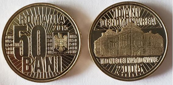 Romenia 50 Bani 2015 Fc Comemorativa 10 Anos Moeda Nacional