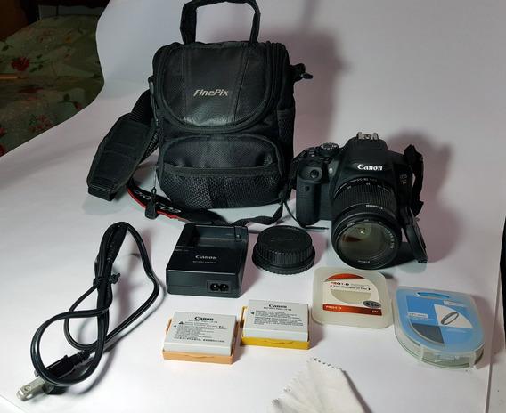 Canon Eos Rebel T5i 18-55mm +bosla+cartao 32gb+2 Bateria Etc