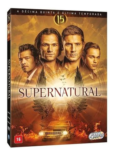 Imagem 1 de 1 de Box: Supernatural - 15ª Temporada Completa Original - 5 Dvds