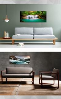 Cuadros Impresos 120x50cm. Ideales Respaldo De Cama O Sofa