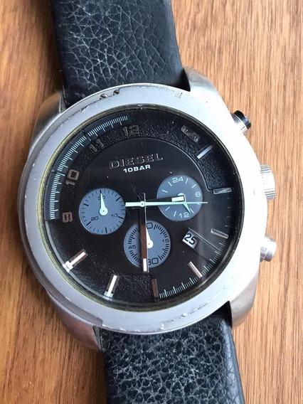 Relógio Diesel Original Em Couro
