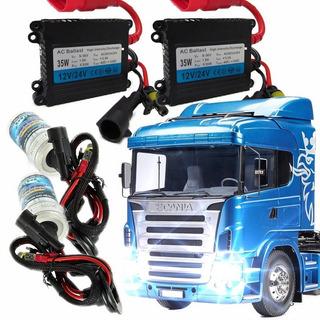 Kit Xenon 24v Caminhão Ônibus H1 H3 H4-2 H7 Scania Mercedes