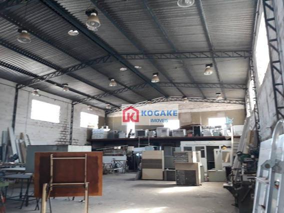 Galpão Para Alugar, 420 M² Por R$ 10.000,00/mês - Jardim Das Indústrias - São José Dos Campos/sp - Ga0103
