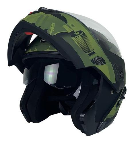 Casco Verde Militar Soldier Abatible Roda Revenge Gafas Dot