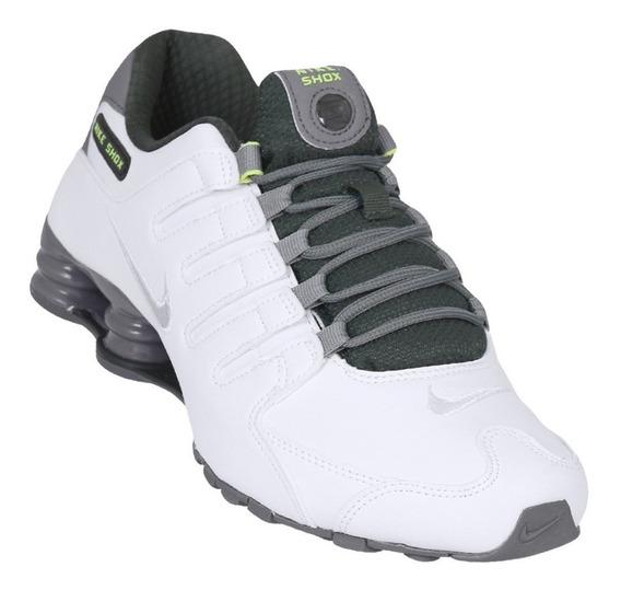 nike shox verde e branco
