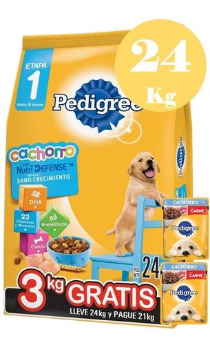 Pedigree Cachorro 21 + 1.5kg + 2pate + 6 Pagos