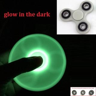 Fidget Hand Spinner Brilla En La Oscuridad Verde Neon