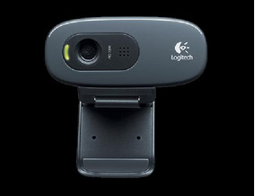 Webcam Logitech C270 Usb 720p Hd 30fps Com Microfone