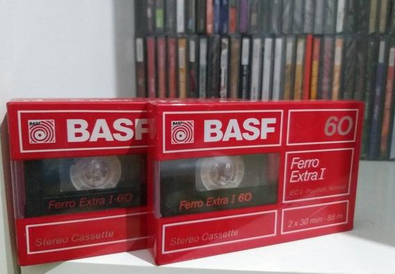 Duas Fitas Cassete Basf Ferro Extra 60 Novas Lacradas :)