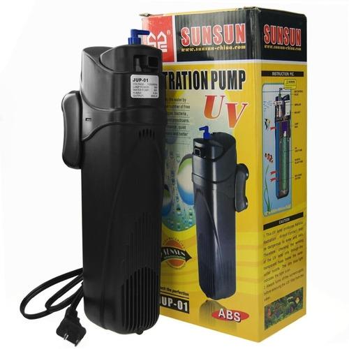 Filtro C/ Bomba Sunsun Jup-01 Uv 9w 800l/h  Aquario Lago