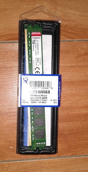 Kingston Kcp316nd8/8 8gb Ddr3 1600mhz Non Ecc Ram Memory Dim