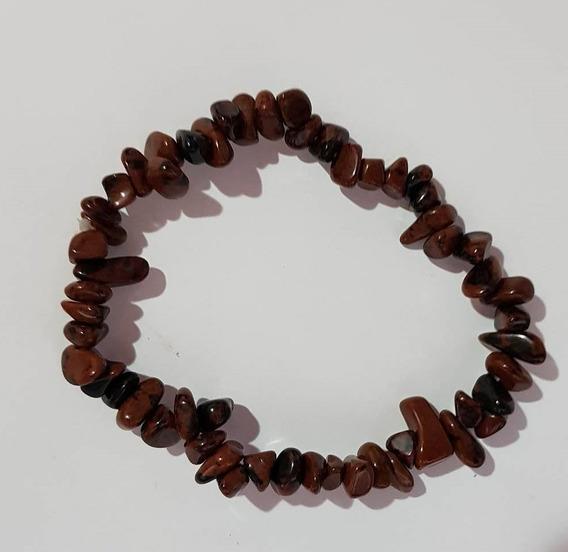 Pulseira Obsidiana Mahogany - Cascalho Pedra Natural