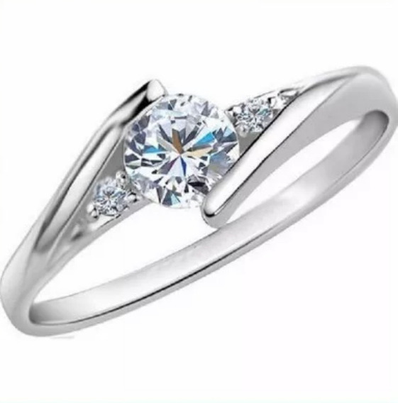 Anillo Compromiso Oro Blanco 18k .30ct Diamante Natural -50%