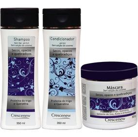 Kit Shampoo Condicionador Máscara Cabelos Crespos