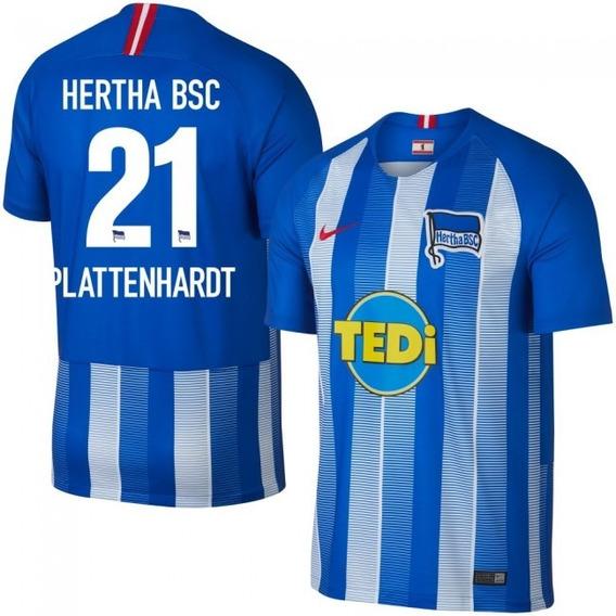 Camisa Hertha Berlin Home 18-19 Plattenhardt 21 Importada