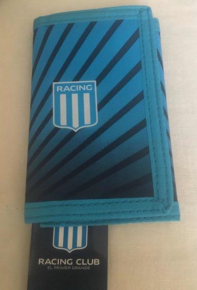 Billetera De Racing Club Con Licencia Oficial