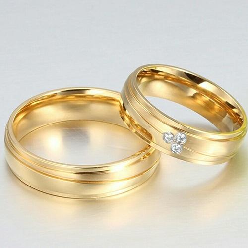 Imagen 1 de 2 de Aros Matrimonio Oro 18k Plata Amor Novios Boda Anillos Mujer