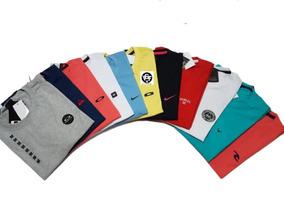 Kit 10 Masculinas Camisa Camisetas Marcas Famosas Baratas