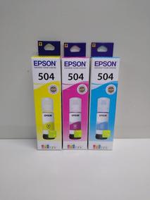 Kit Epson T504 Refil Com 03 Cores 1 Mg/1 Ye/ 1 Cy Original