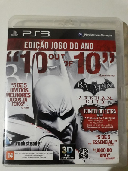 Batman Arkham City Ps3 Mídia Física