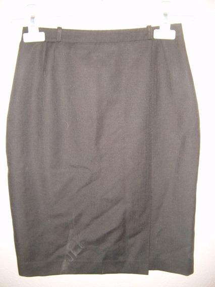 Falda Corta Para Dama Talla 6 Color Gris Ajustada De Vestir