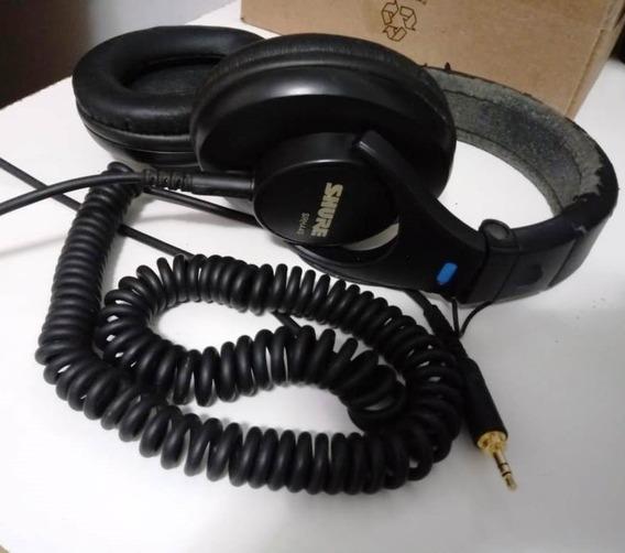 Headphone Shure Srh-440 Usado - Com Defeito Engate Lado Dir