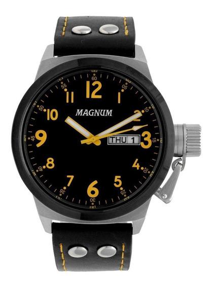 Relógio Magnum Maculino Ma32774j - Pulseira Couro