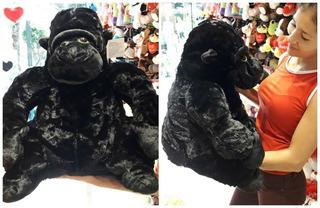 Gorila Mono De Peluche Grande Negro Pelaje Hermoso